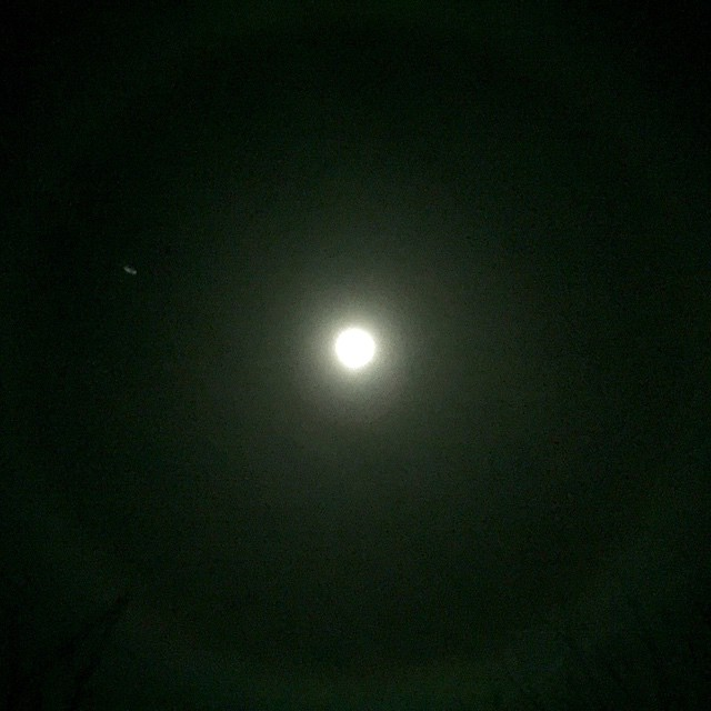 Ice circle around the Moon. Beautiful.