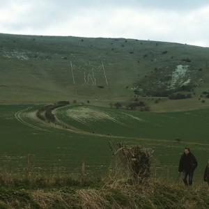 The Long Man of Wilmington at Alban Eilir 2015. People…