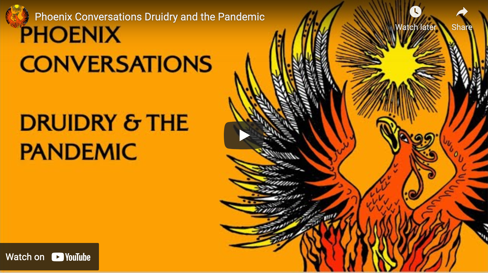 'Druidry and the Pandemic' panel from Phoenix Conversations
