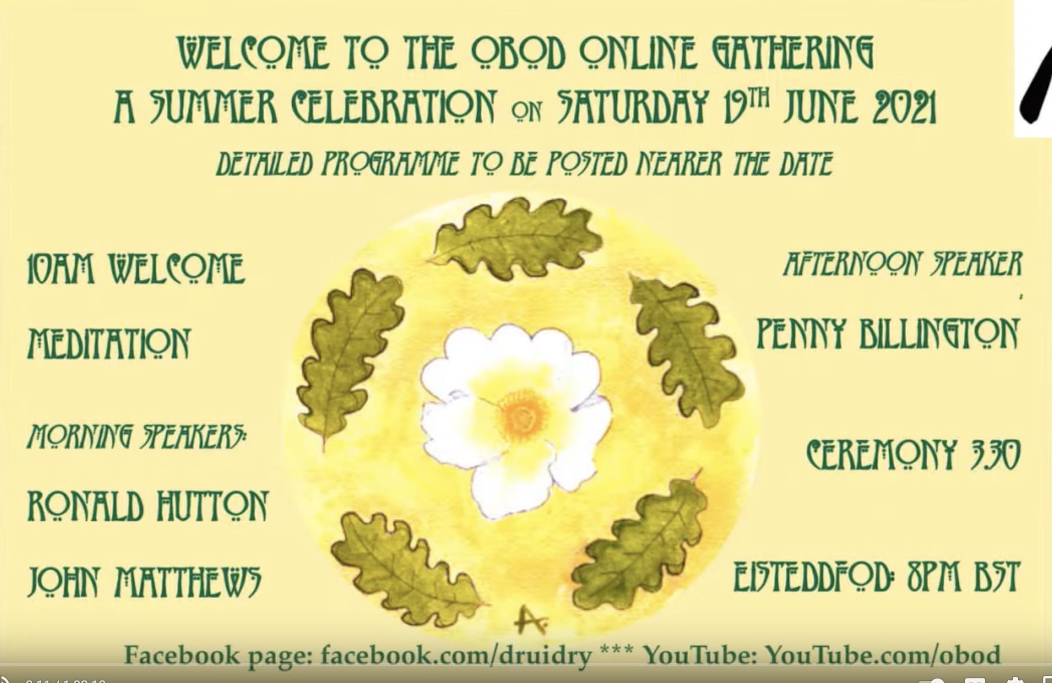 OBOD Online Summer Solstice Gathering